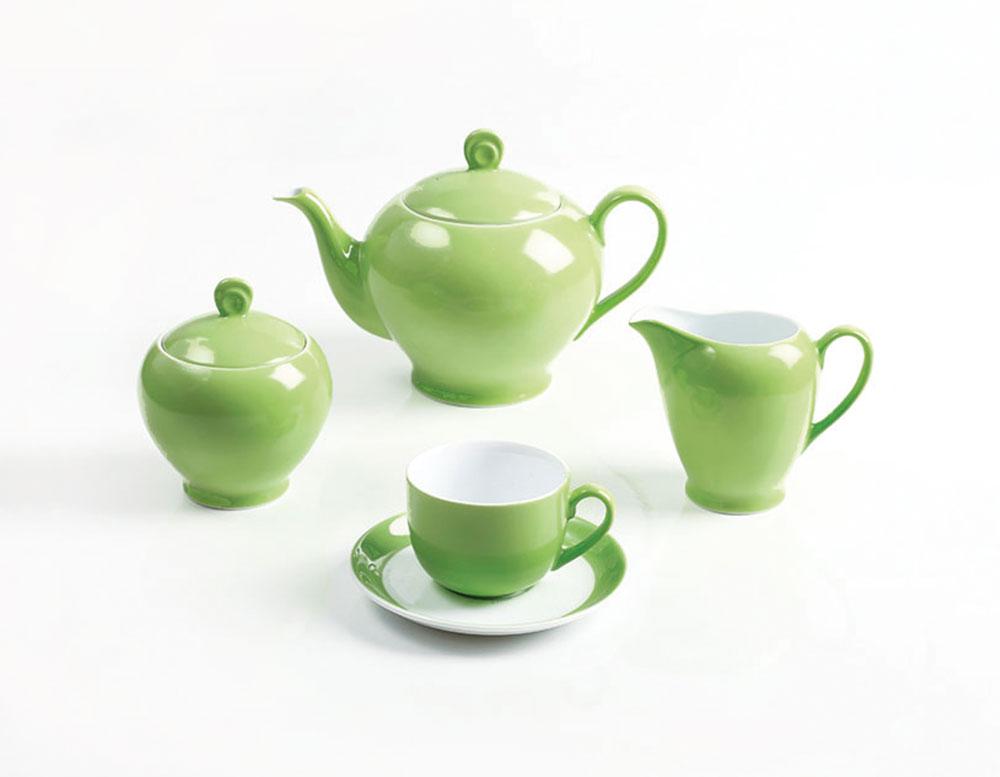 سرویس چینی 17 پارچه چایخوری پسته