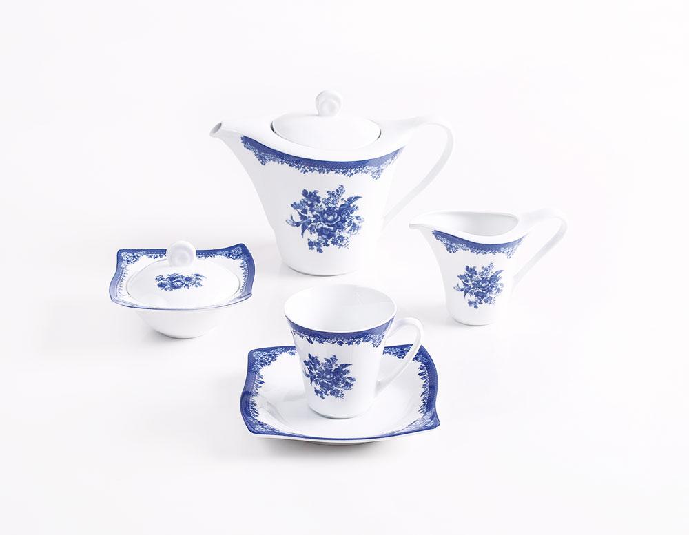 سرویس چینی 17 پارچه چایخوری فلورانس