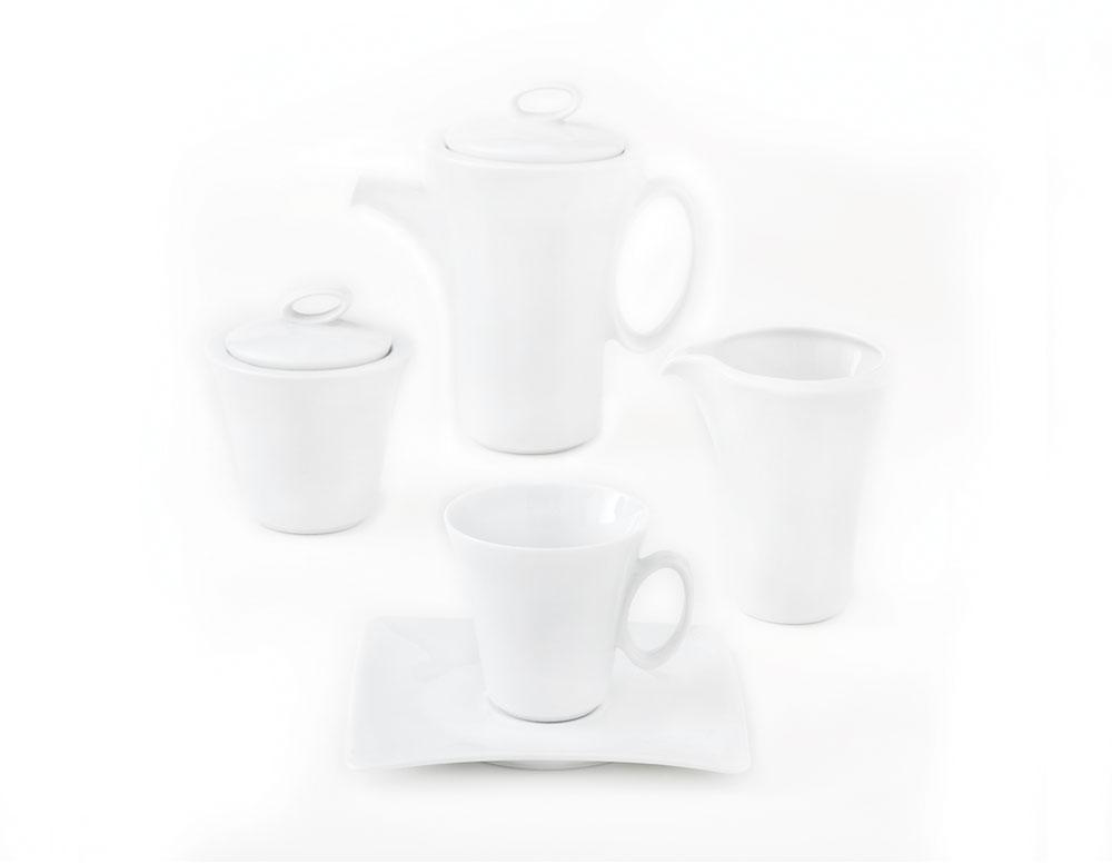 سرویس چینی 17 پارچه چایخوری سفید