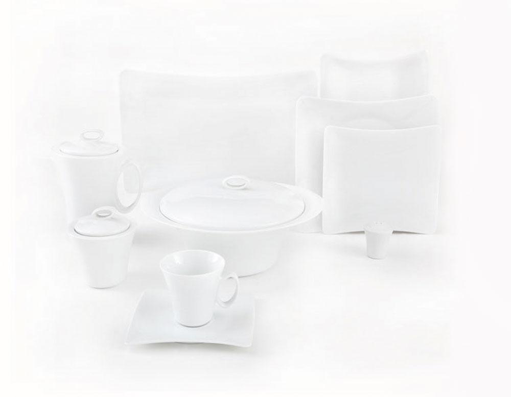 سرویس چینی 90 پارچه کامل سفید