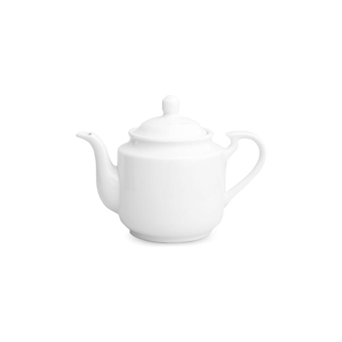 قوری چای استوانه کوچک سفید