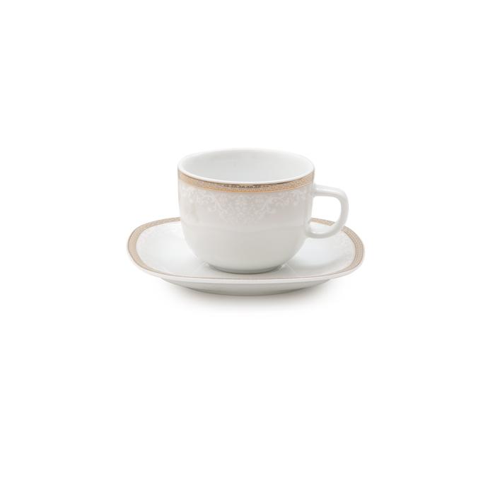 سرویس چینی 12 پارچه چای خوری ریوا طلایی