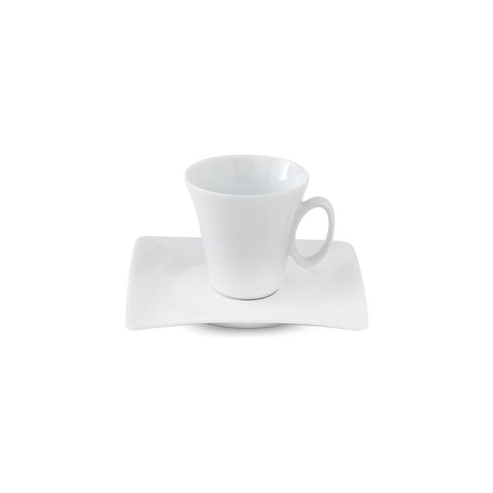 سرویس چینی 12 پارچه چای خوری سفید
