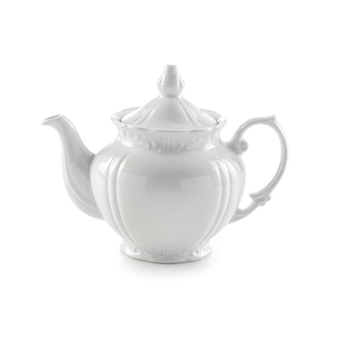 قوری چای چهار ترک بزرگ سفید