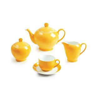 سرویس چینی 17 پارچه چای خوری زعفران