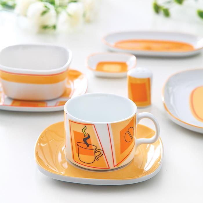 سرویس چینی 8 پارچه صبحانه و عصرانه بامداد