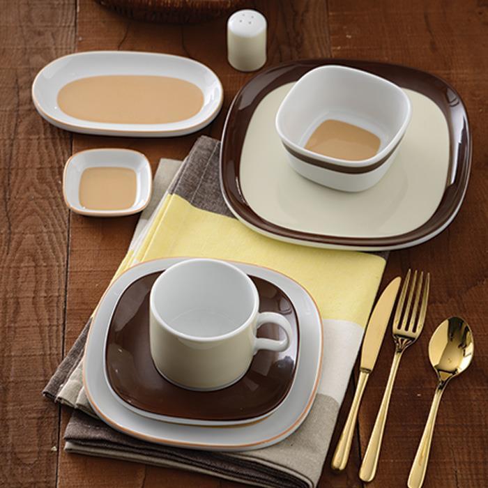 سرویس چینی 8 پارچه صبحانه خوری کارامل