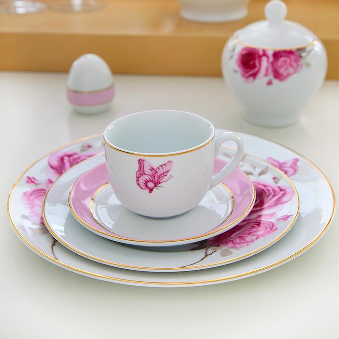 سرویس چینی 12 پارچه چای خوری رزفلاور