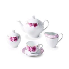 سرویس چینی 17 پارچه چای خوری رزفلاور