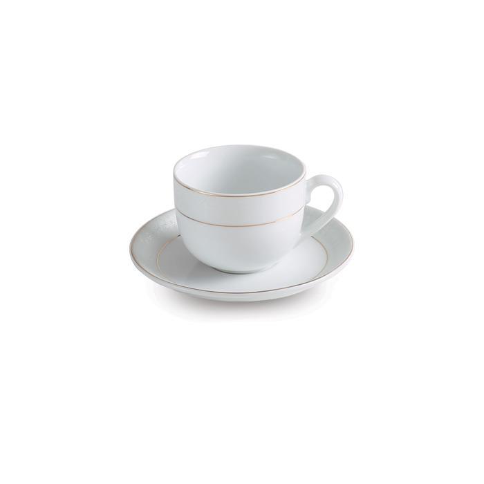 سرویس چینی 12 پارچه چای خوری سپید صدف