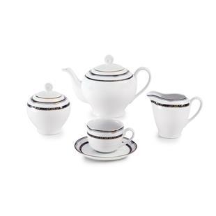 سرویس چینی 17 پارچه چای خوری پرشیا سرمه ای