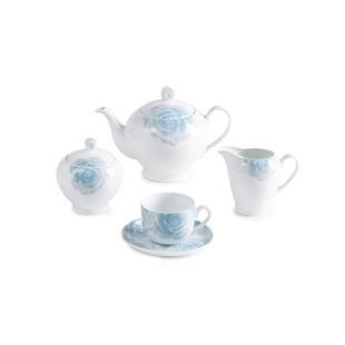 سرویس چینی 17 پارچه چای خوری رزتا آبی