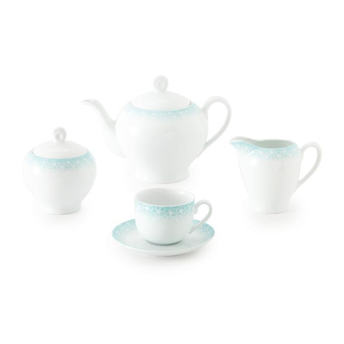 سرویس چینی 17 پارچه چای خوری ساکورا آبی