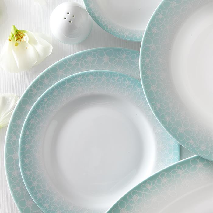 سرویس چینی 28 پارچه غذاخوری ساکورا آبی