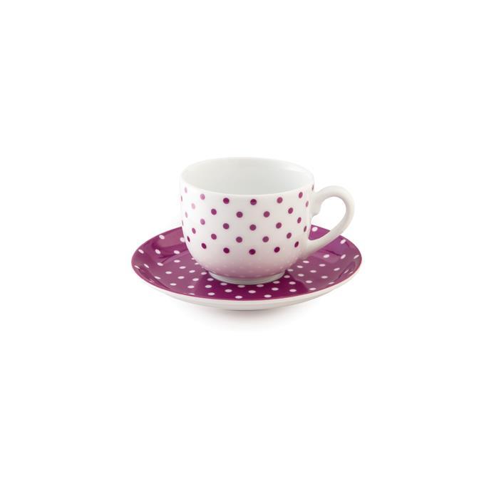 سرویس چینی 12 پارچه چای خوری اسپاتی بنفش
