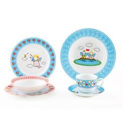 سرویس چینی 6 پارچه کودک پریا آبی و صورتی