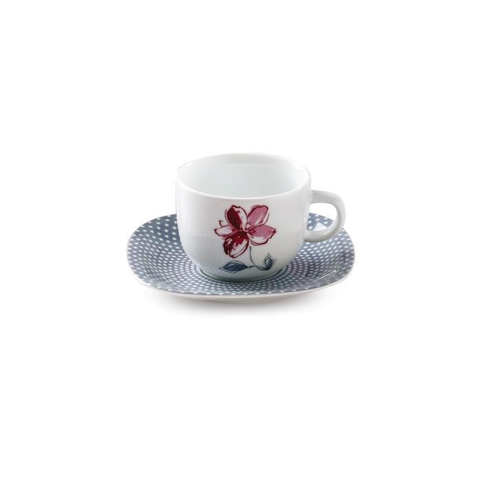 سرویس چینی 12 پارچه چای خوری والنسیا ارغوانی