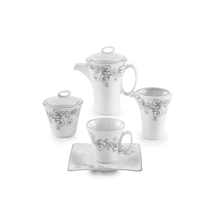 سرویس چینی 17 پارچه چای خوری باروک