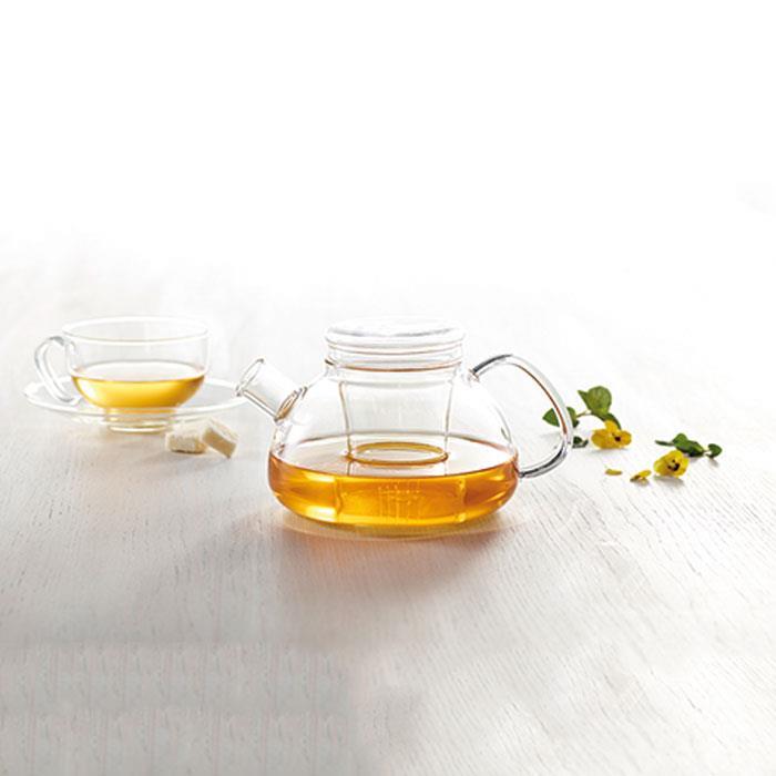 قوری با چای صاف کن تی ینرگلس 1200 ساده