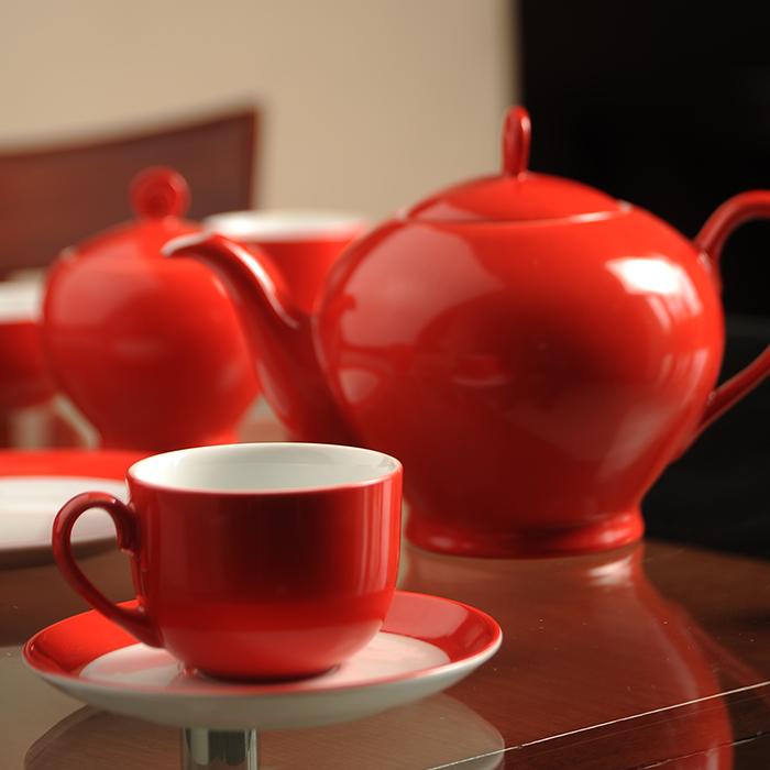 سرویس چینی 17 پارچه چای خوری گیلاس