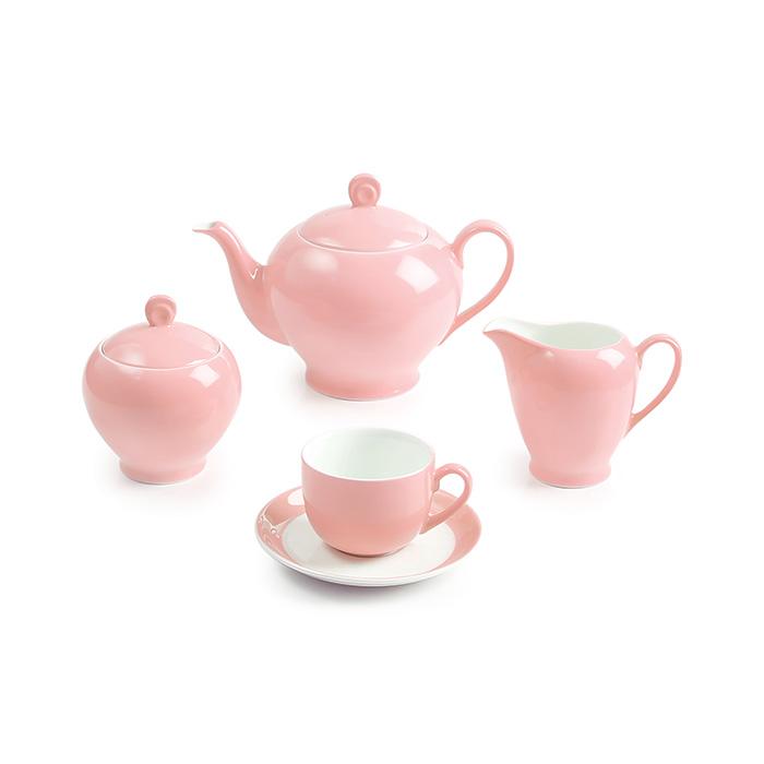 سرویس چینی 17 پارچه چای خوری ماربل