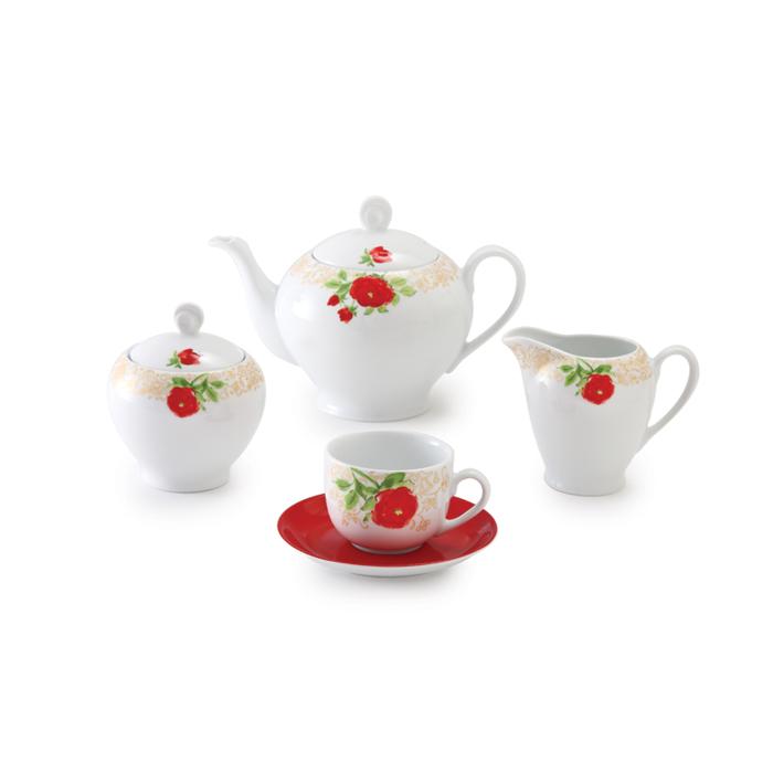 سرویس چینی 17 پارچه چای خوری شارلوت