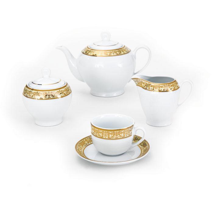 سرویس چینی 17 پارچه چای خوری مهرکرم
