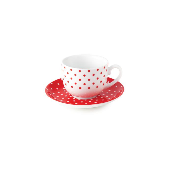 سرویس چینی 12 پارچه چای خوری اسپاتی قرمز