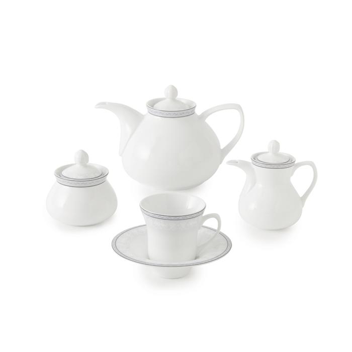 سرویس چینی 18 پارچه چای خوری وایت رز